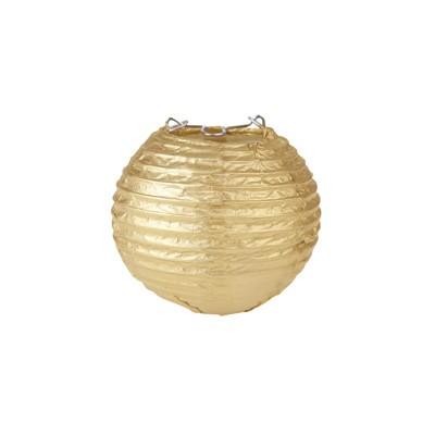 Partydeko Papierlampions XS gold