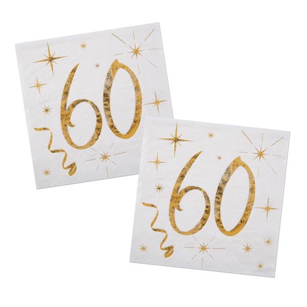 Servietten 60. Geburtstag gold
