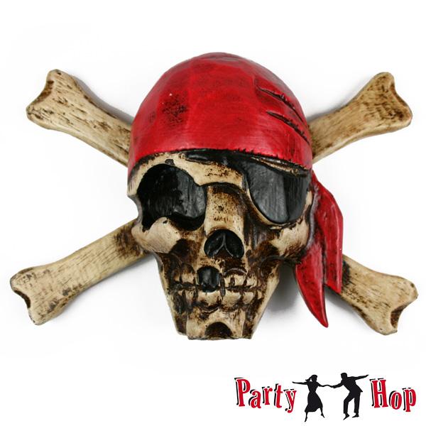 Piraten totenkopf wand dekoration holz handgeschnitzt for Mottoparty deko