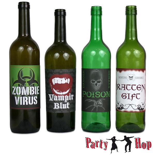 Halloween Etiketten für Flaschen