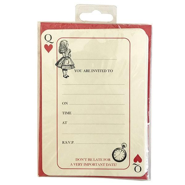Alice im Wunderland Party Einladungskarten