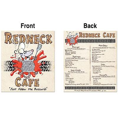 Redneck Cafe Speisekarte