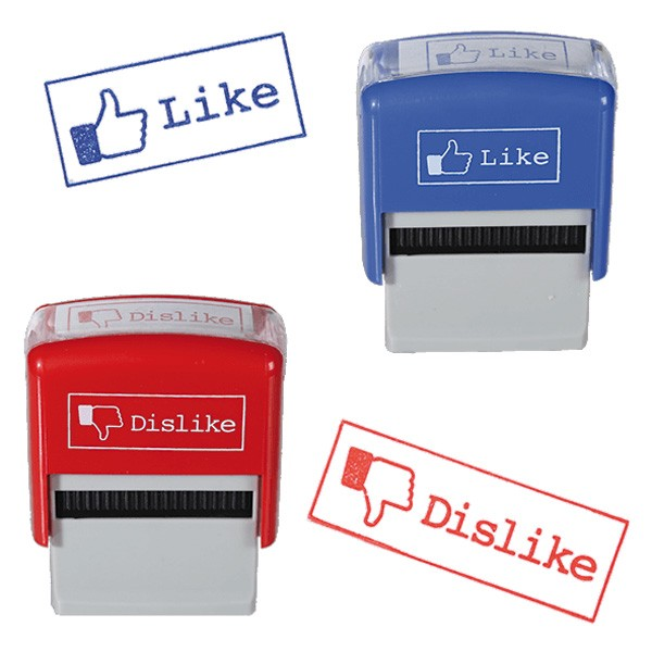 Like und Dislike Stempel