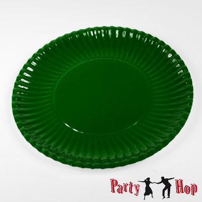 Pappteller dunkelgrün