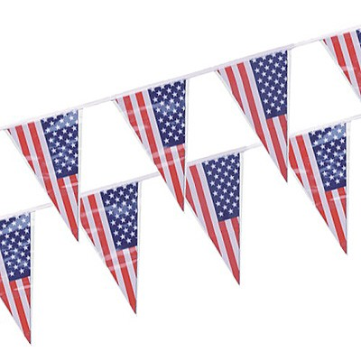 Wimpelgirlande USA Flagge 4m