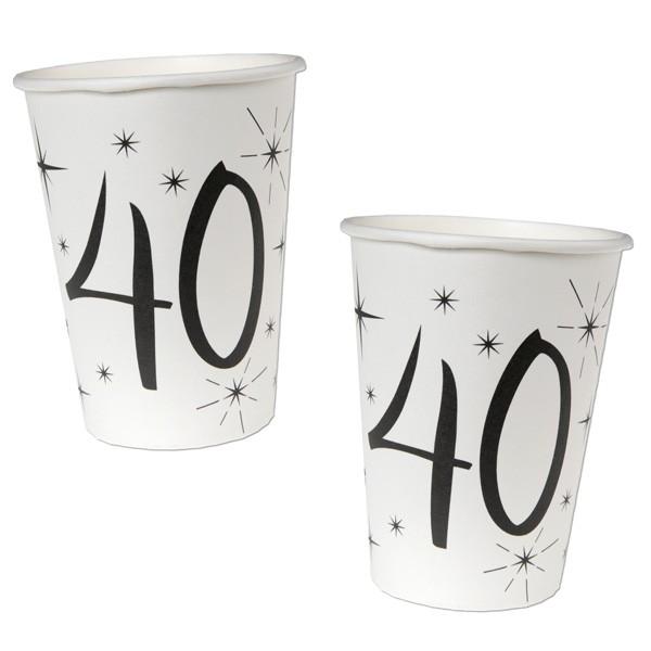 Pappbecher 40. Geburtstag