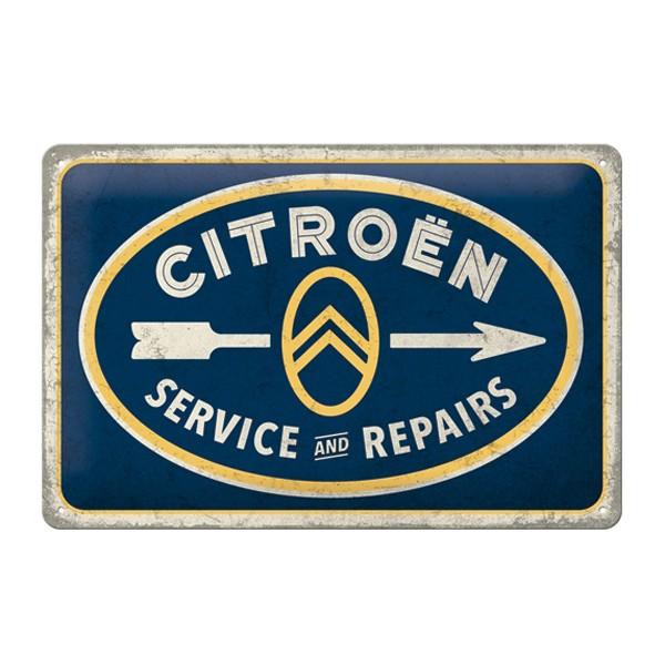 Blechschild Citroen Service Repairs 30x20cm