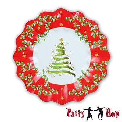 Pappteller Weihnachtsbaum klein