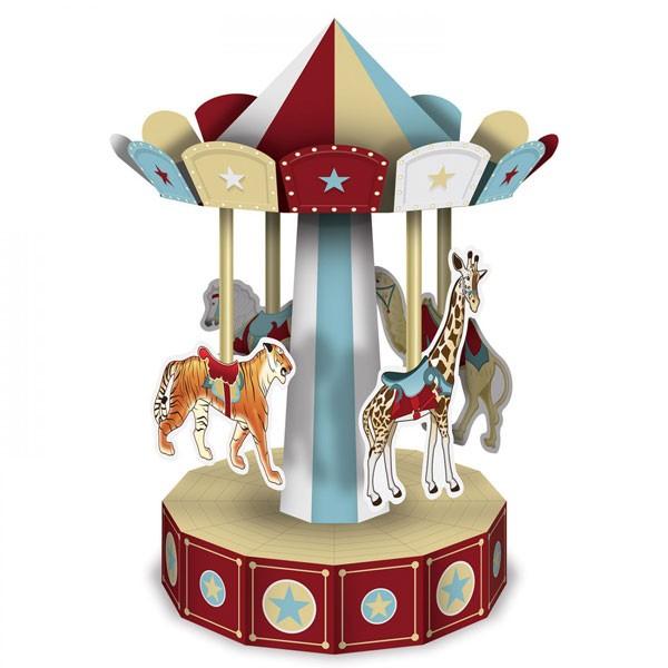 Tischaufsteller Karusell Vintage Circus