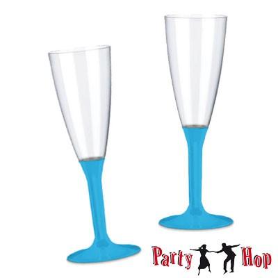 einweg sektgl ser plastik sektfl ten t rkis 20 stk party hop. Black Bedroom Furniture Sets. Home Design Ideas