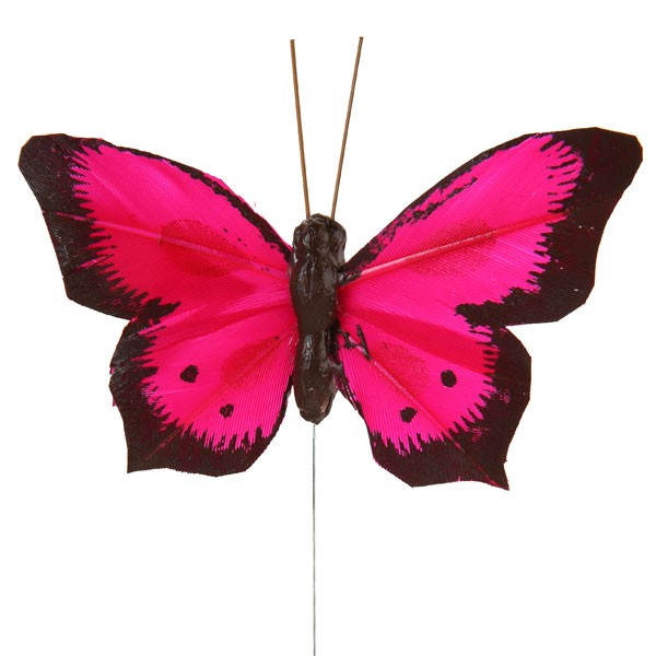 Deko-Schmetterlinge pink