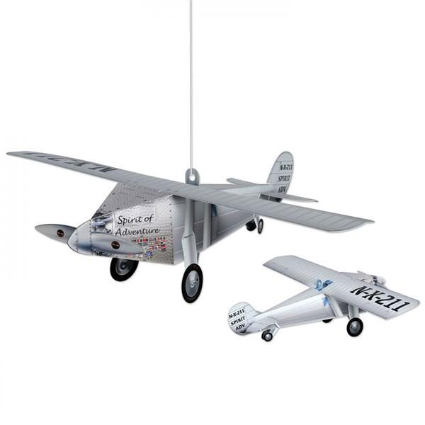 Tischdeko Hängedeko Flugzeug