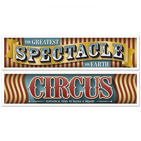 Vintage Circus Partydeko Banner