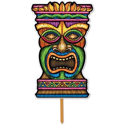 Partydeko Tiki-Masken-Schild