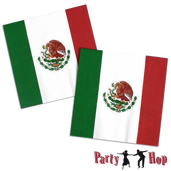 Servietten Mexiko-Fahne