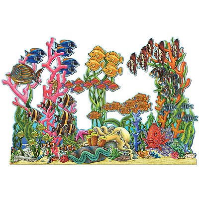 Partydeko Aufsteller Unterwasserlandschaft