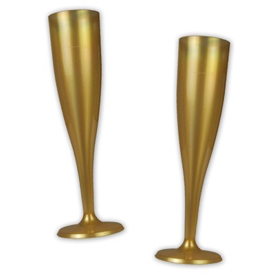 Plastik Champagnerglas gold