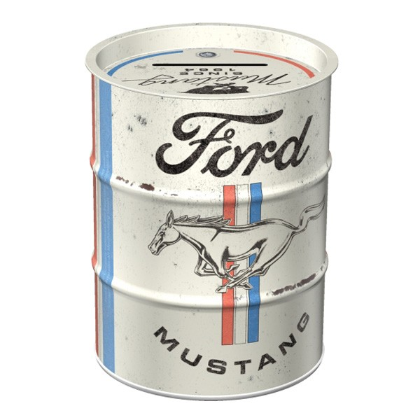 Spardose Ölfass Ford Mustang