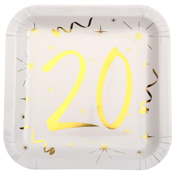 Partyteller 20. Geburtstag gold