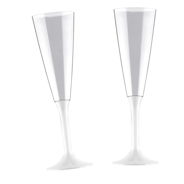 Einweg-Sektglas weiß 160ml