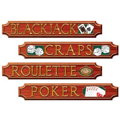 Partydeko Casinoschilder