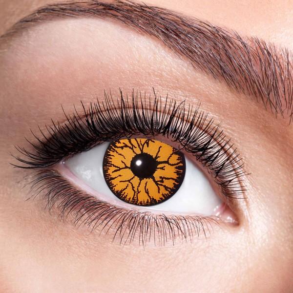 Farbige Kontaktlinsen ohne Stärke Monster Orange