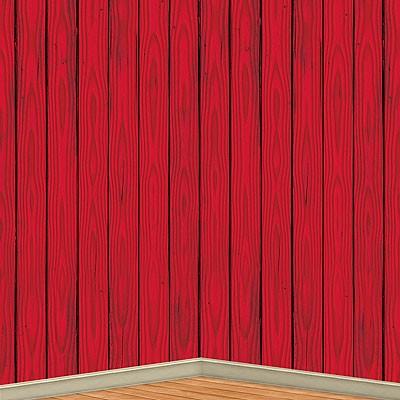 Wandverkleidung Partydeko Scheunenwand rot