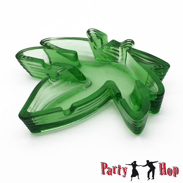 Glas Aschenbecher Hanf