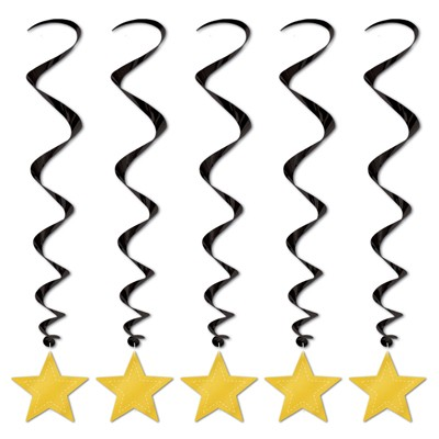 Spiralhänger Sterne gold