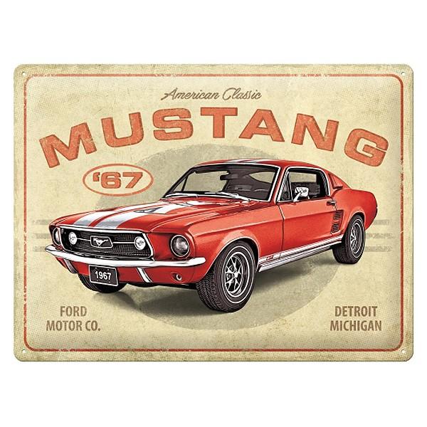 Ford Mustang GT 1967 Blechschild