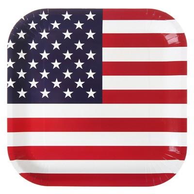 Pappteller USA Flagge