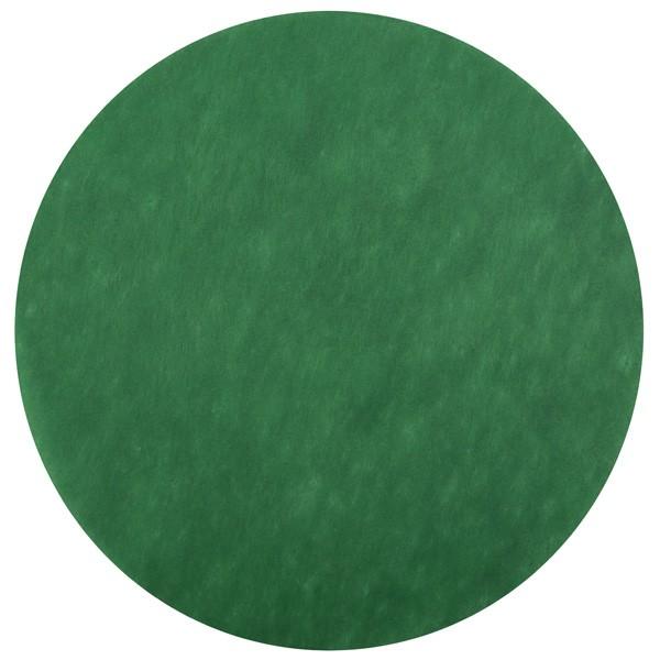 Dunkelgrüne Platzdecken rund