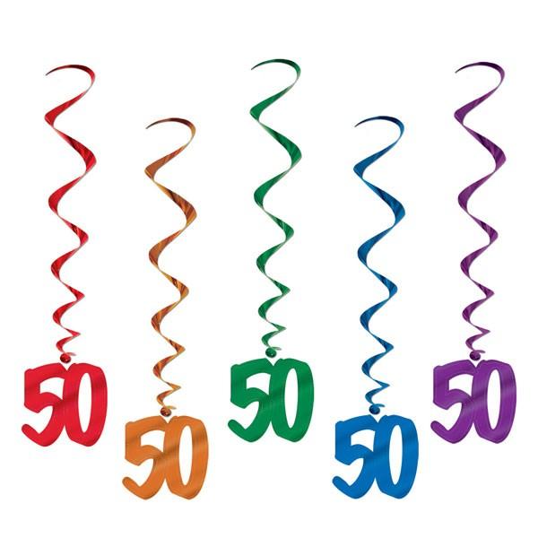 Spiralhänger 50. Geburtstag