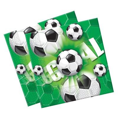 Servietten Fußball grün