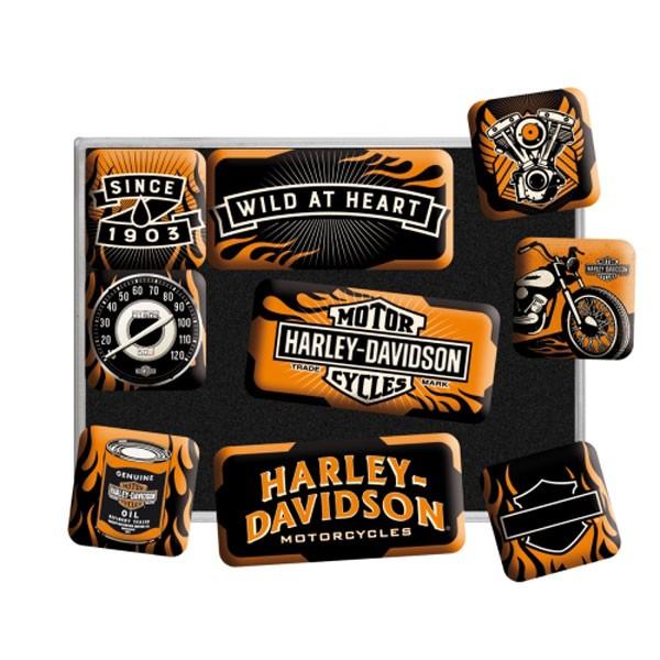Magnet-Set Harley-Davidson Wild at Heart