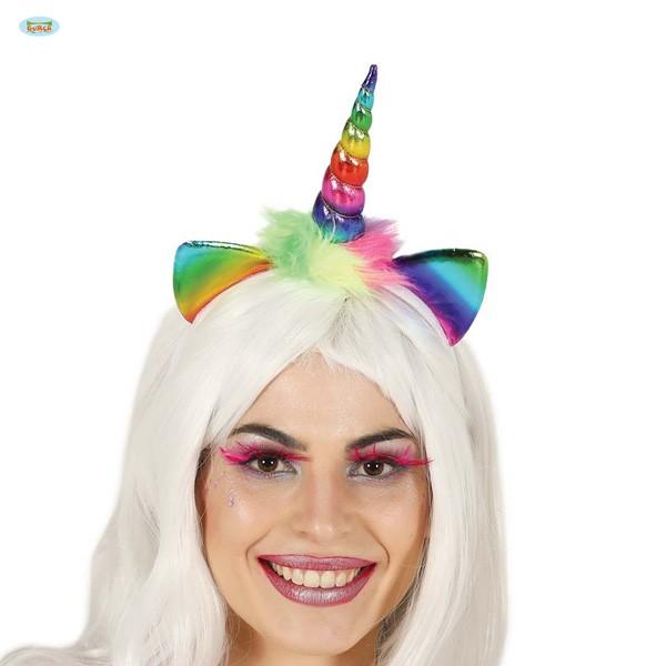 Haarreif Regenbogen Einhorn