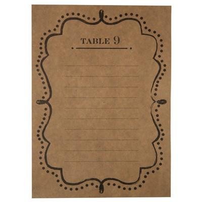 Tischplan Sitzplan braun natur 1 bis 10