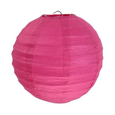 Partydeko Papierlampions pink groß 30cm