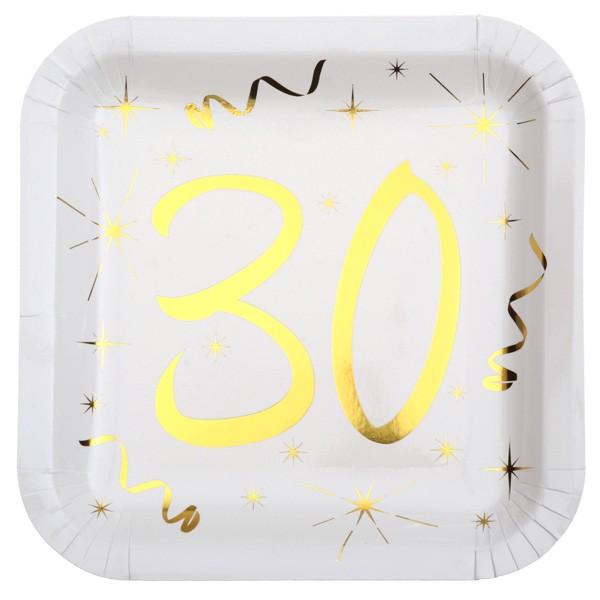 Partyteller 30. Geburtstag gold