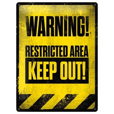 Blechschild Restricted Area