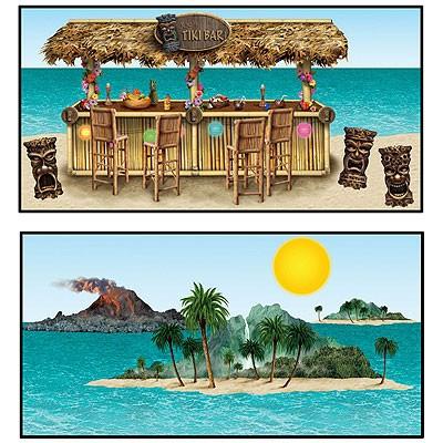 Wanddeko Tiki Bar und Inseln