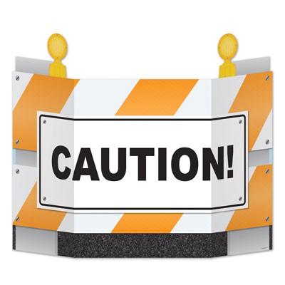 Aufsteller Straßensperre Caution
