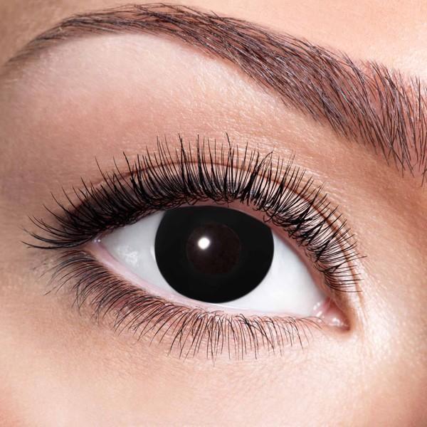 Schwarze Kontaktlinsen ohne Stärke Black Witch