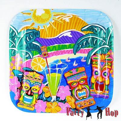 Pappteller Hawaii Tiki