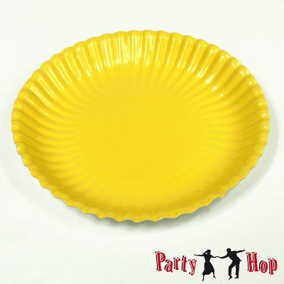 Pappteller gelb tief