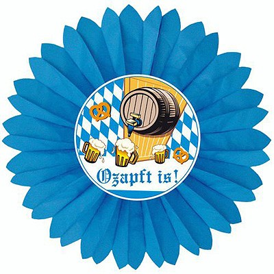 Bayerischer Wabenfächer Ozapft is