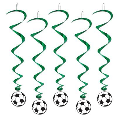 Spiralhänger Fußball  grün