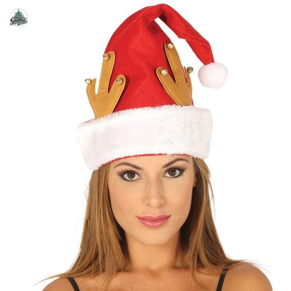 Weihnachtsmütze mit Rentiergeweih