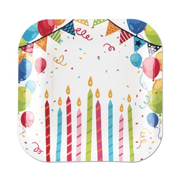 Geburtstags Pappteller bunt