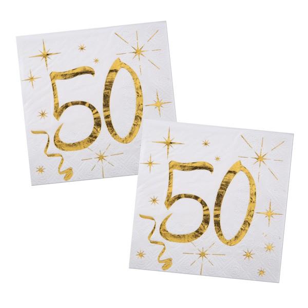 Servietten 50. Geburtstag gold